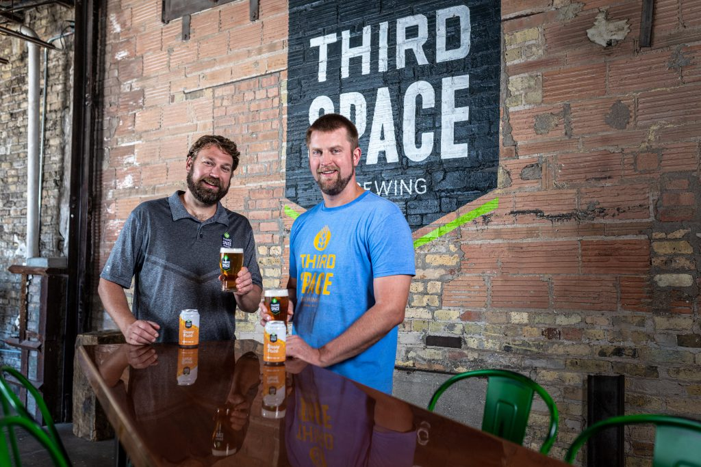 Andy Gehl and Kevin Wright. Photo courtesy of Third Space Brewing Company.