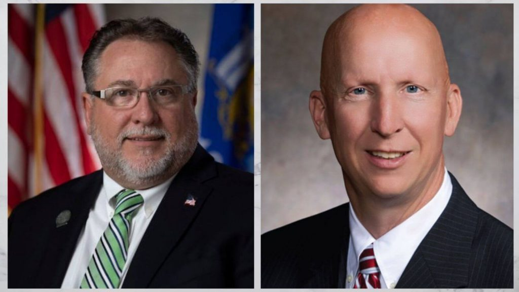 Rep. Rob Brooks and Sen. Duey Stroebel.