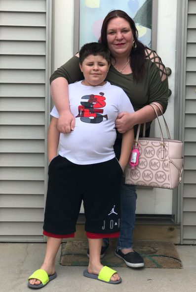 Jessica Barrera is seen with her son Niko in Eau Claire, Wis., in June 2020. Courtesy of Jessica Barrera