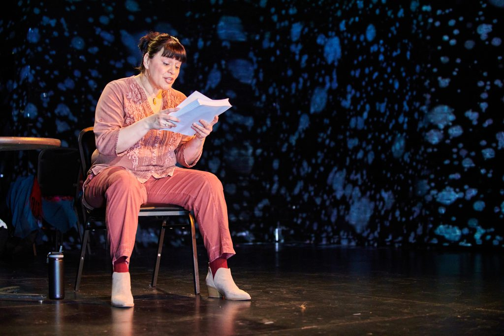 Michelle Lopez-Rios in the Milwaukee Chamber Theatre's The Way She Spoke. Photo by Paul Ruffolo.