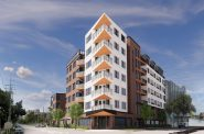 2021 revision of proposed E. North apartment building. Renderings by JLA Architects.