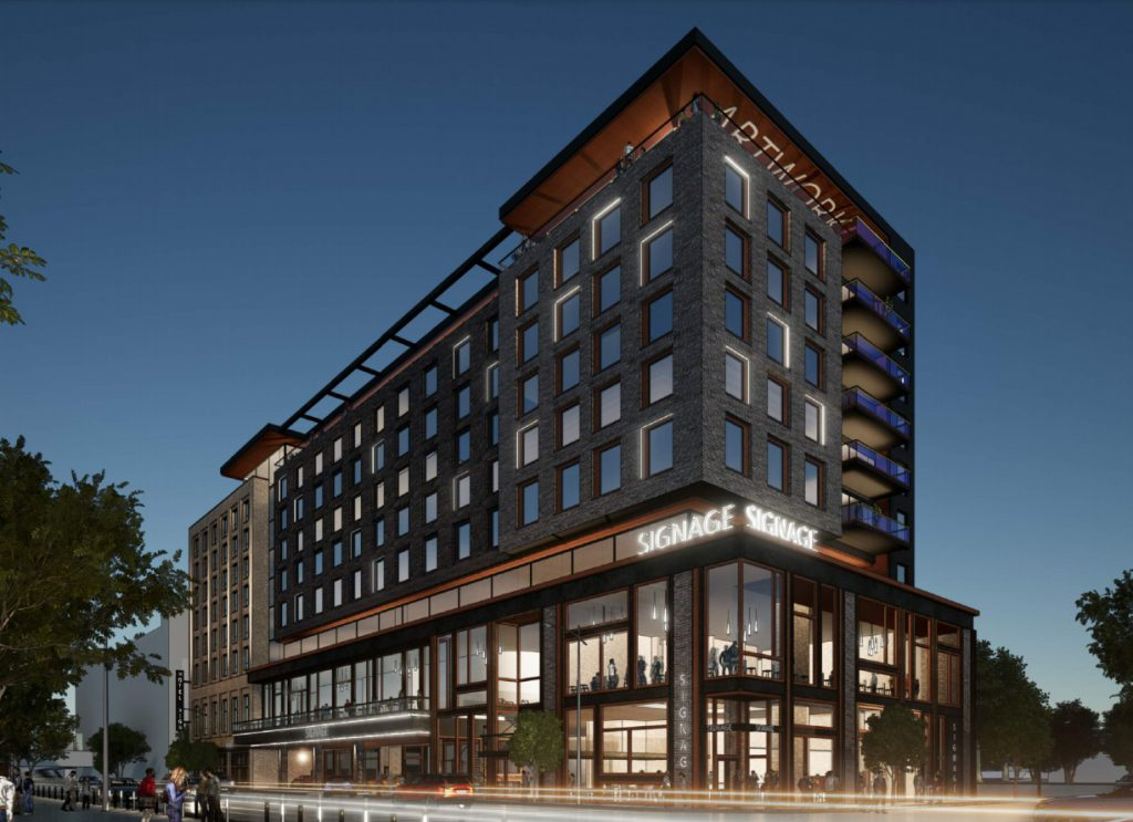 Marriott Autograph Collection hotel proposed for 420 W. Juneau Ave. Rendering by GBA.