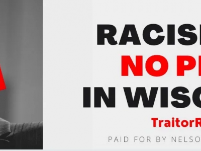 Senator Ron Johnson Thanks Tom Nelson for Billboard near Mansion that Calls out his Racism