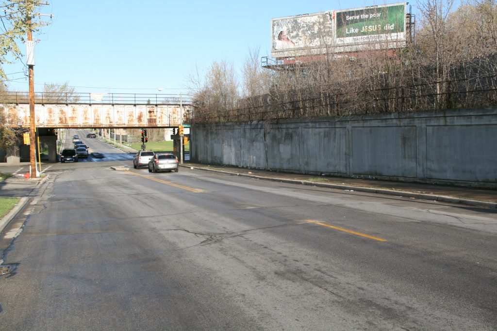 Future mural site near intersection of W. Locust St. and W. Fond du Lac Ave. Photo by Jeramey Jannene.