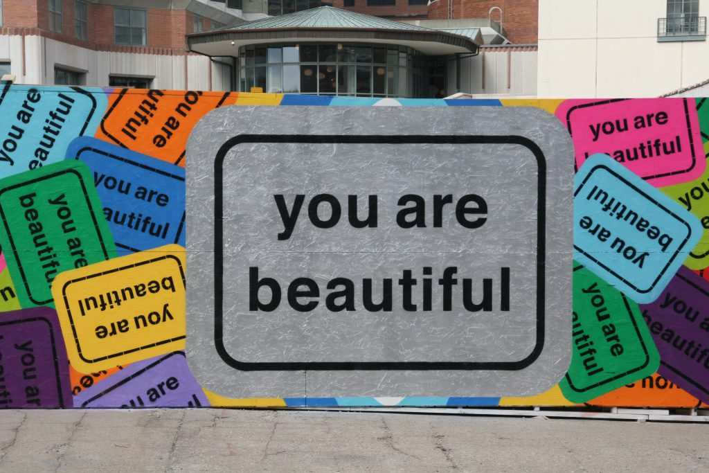 """You Are Beautiful"" by Matthew Hoffman. Photo by Jeramey Jannene."
