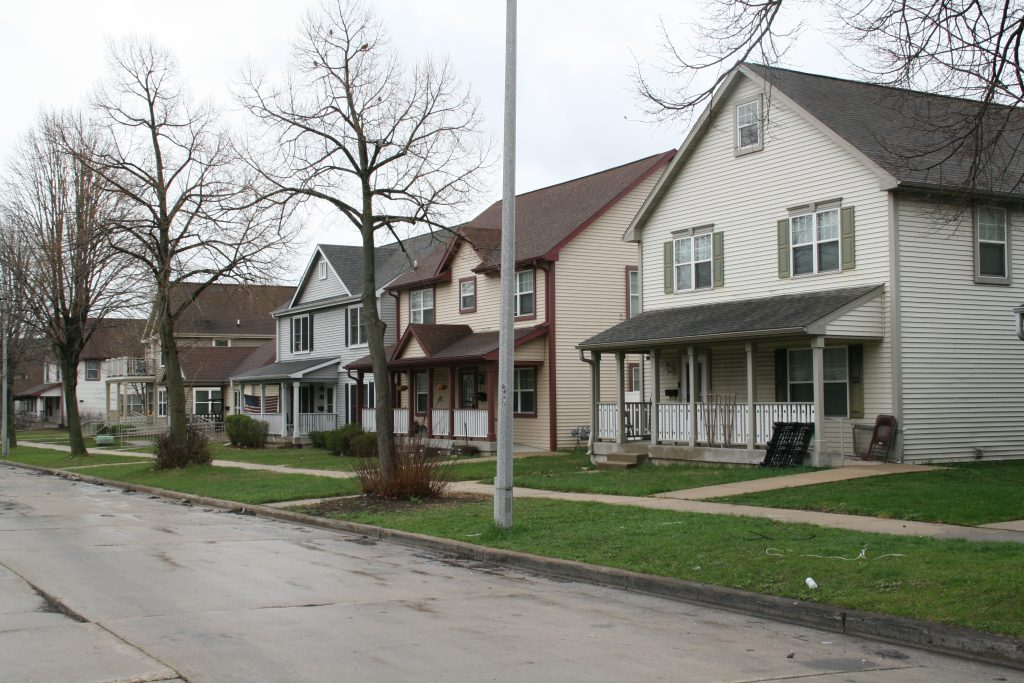 Homes on N. 20th St. Photo by Jeramey Jannene.
