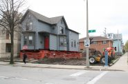 House at 853 N. 16th St. Awaits Relocation. Photo by Jeramey Jannene.