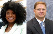 County Board Chairwoman Marcelia Nicholson and Supervisor John Weishan, Jr.