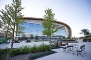 The Fiserv Forum was supposed to be the site of this year's Democratic National Convention. Photo by Angela Major/WPR.