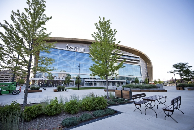 The Fiserv Forum was supposed to be the site of the 2020 Democratic National Convention. Photo by Angela Major/WPR.