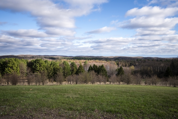 A vast landscape extends beyond the Lincoln Hills youth prison Thursday, April 15, 2021, in Irma, Wis. Angela Major/WPR