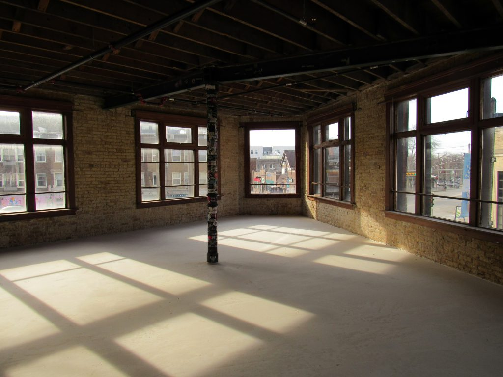 Second floor space. Photo courtesy of Milwaukee Executive Realty.