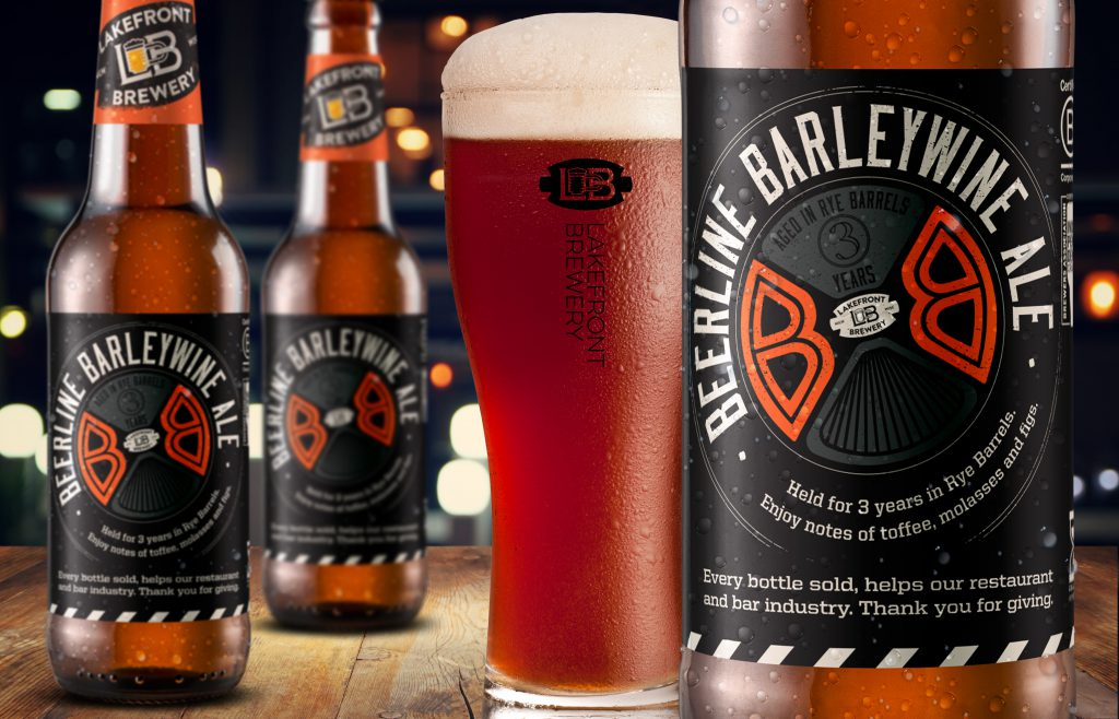Beerline Barleywine. Photo courtesy of Lakefront Brewery.