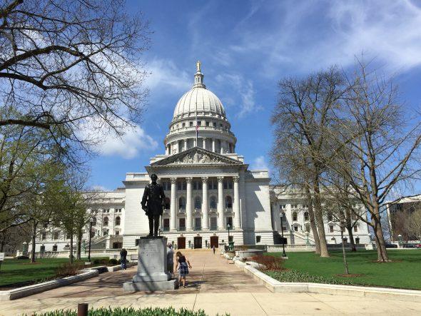 Hans Christian Heg Statue at the Wisconsin State Capitol. Photo by Mariiana Tzotcheva.