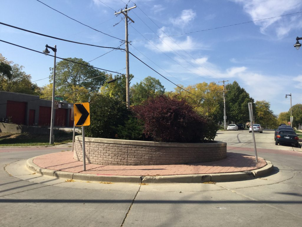 Roundabout in Brewers Hill. Photo by Cari Taylor-Carlson.