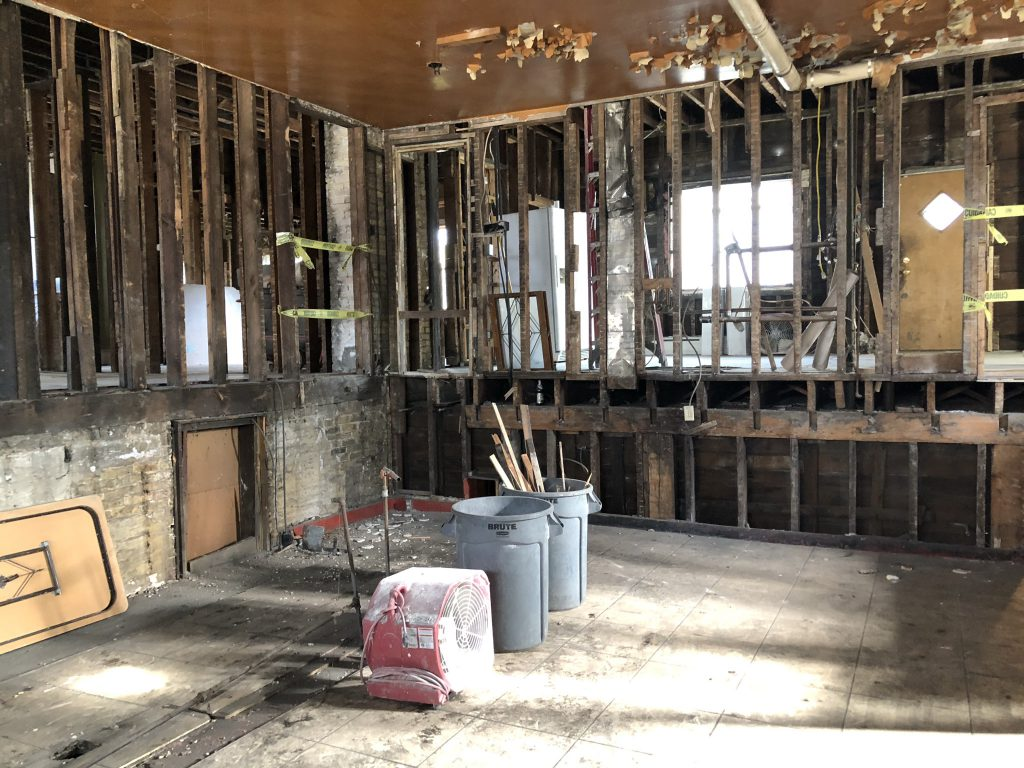 The former Little Whiskey Bar tavern space at 309 W. National Ave. Photo by Jeramey Jannene.