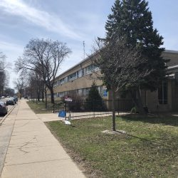 Riverwest Elementary School, 2765 N. Fratney St. Photo taken March 30th, 2021 by Dave Reid.