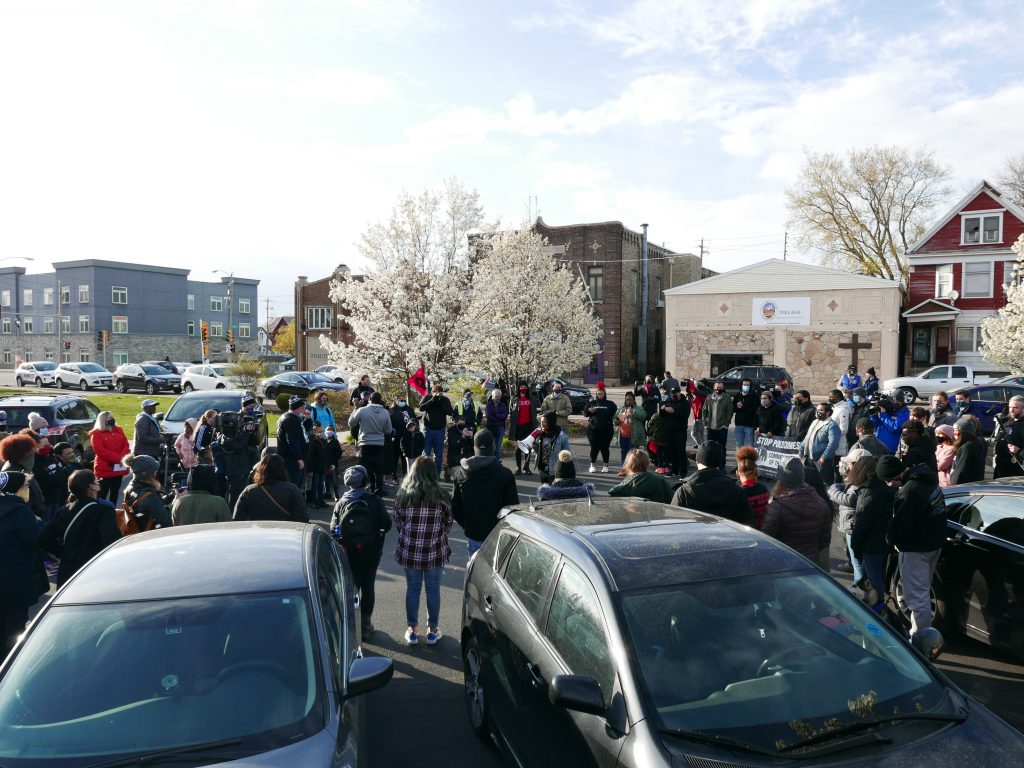 Justice 4 George Floyd Rally. Photo taken April 20th, 2021 by Graham Kilmer.