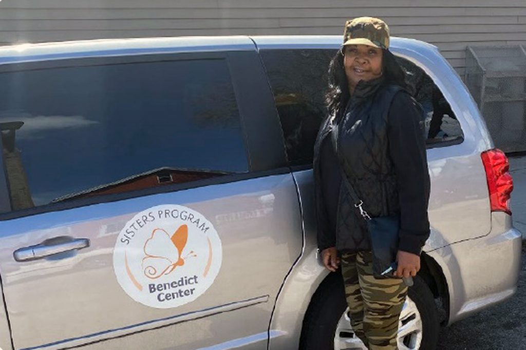 Officers refer women to the Benedict Center's Sisters Program, which offers street outreach and other services. Photo courtesy of the Benedict Center.