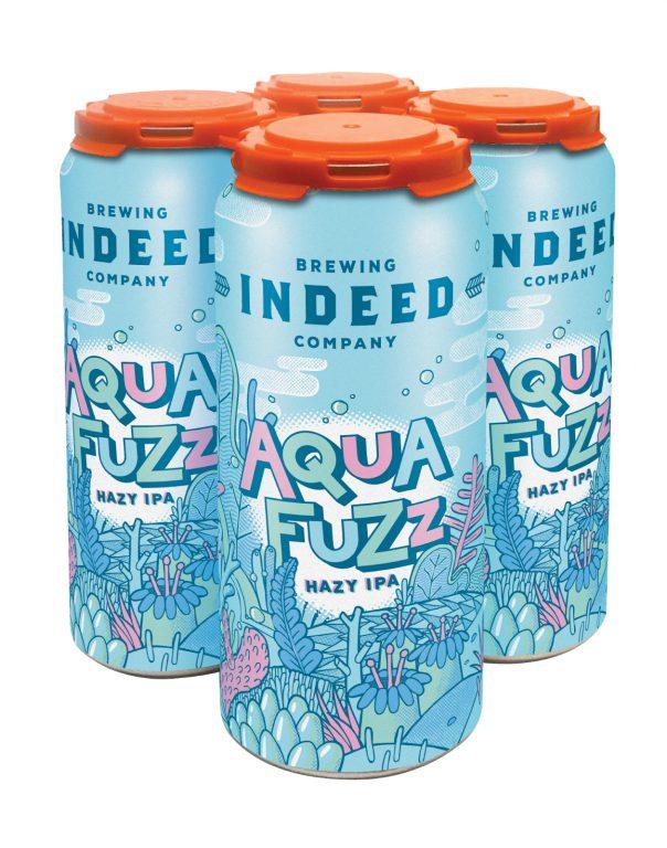 Aquafuzz Hazy IPA. Photo courtesy of Indeed Brewing Company.