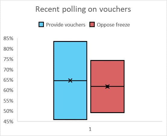 Recent polling on vouchers