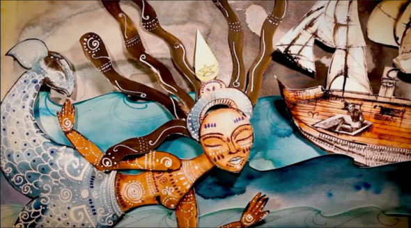 Gabrielle Tesfaye, The Water Will Carry Us Home, 2018 (video still). Hybrid Film & Animation