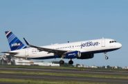JetBlue plane. Photo courtesy of Milwaukee Mitchell International Airport.