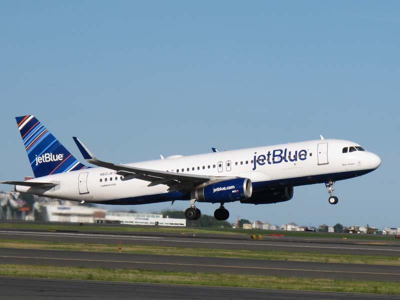 JetBlue plane. Photo courtesy of Milwaukee Mitchell International Airport.