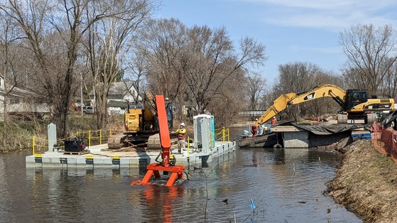 The dredging of the Portage Canal has resumed now that safety precautions are lifted. / Photo Credit: Wisconsin DNR