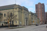 St. John's Cathedral buildings. Photo taken December 15th, 2015 by Carl Baehr.