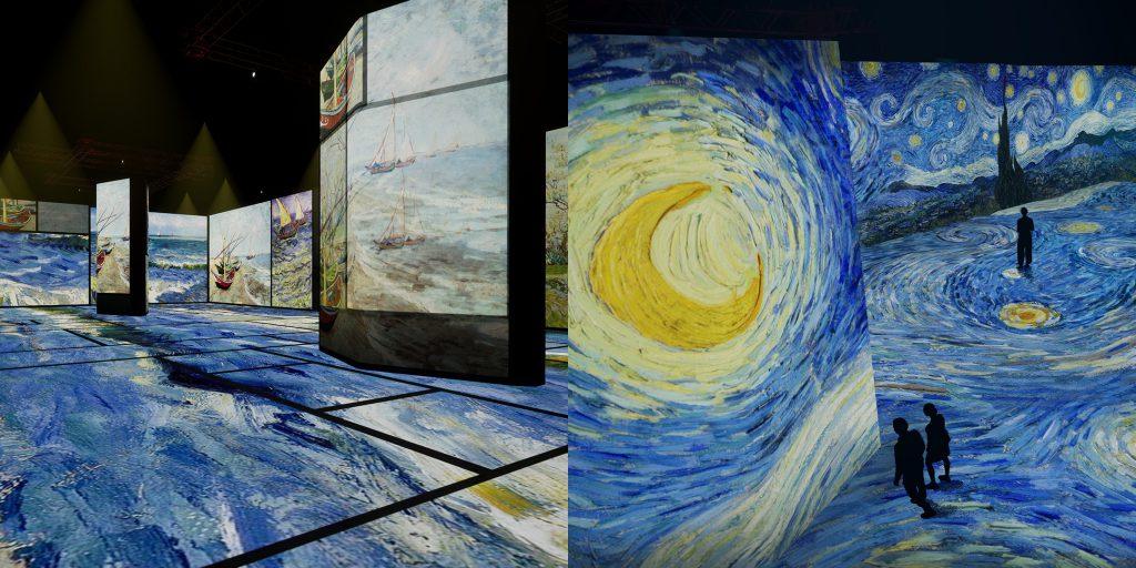 Van Gogh renderings. Images courtesy Beyond Van Gogh: An Immersive Experience.