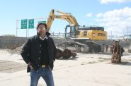 Rick Barrett at The Couture construction site. Photo by Jeramey Jannene.