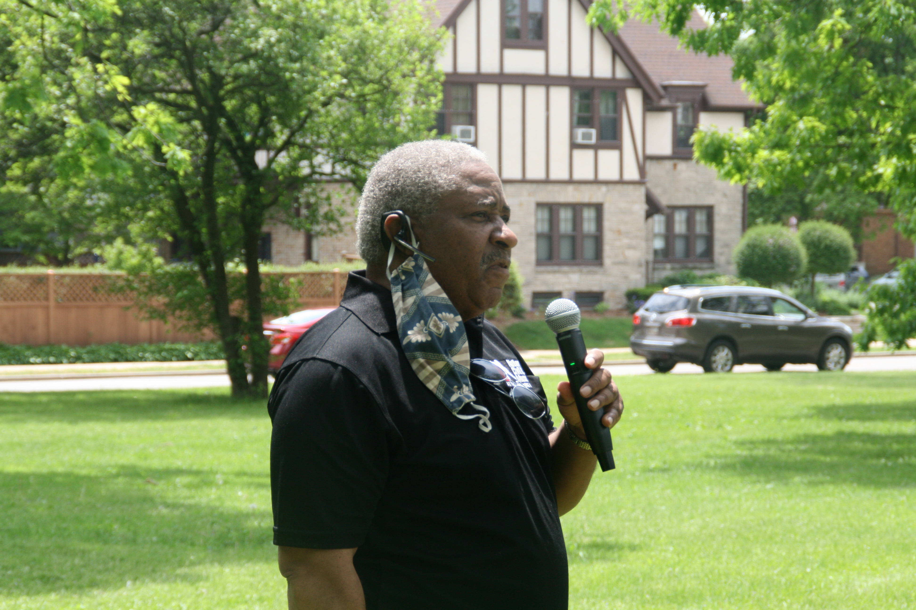 City Attorney Tearman Spencer speaks at a June 5th, 2020 racial equity march at Sherman Park. Photo by Jeramey Jannene.