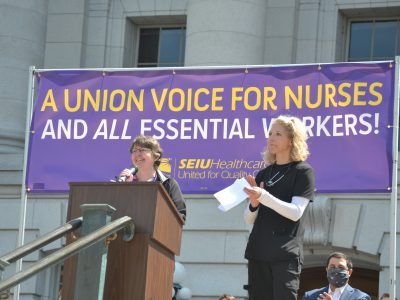 Nurses Call For Union Rights at Capitol Rally