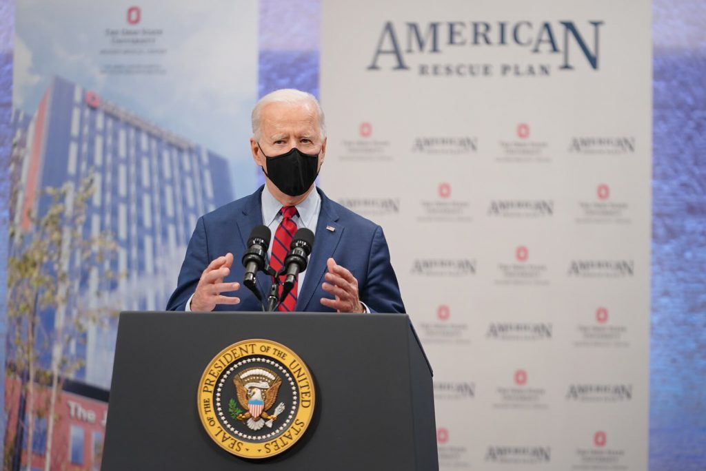 President Joe Biden March 23, 2021, at the Arthur James Cancer Hospital and the Richard Solove Research Institute in Columbus, Ohio. Official White House Photo by Adam Schultz.