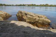The Menominee River borders Michigan and Wisconsin. Danielle Kaeding/WPR