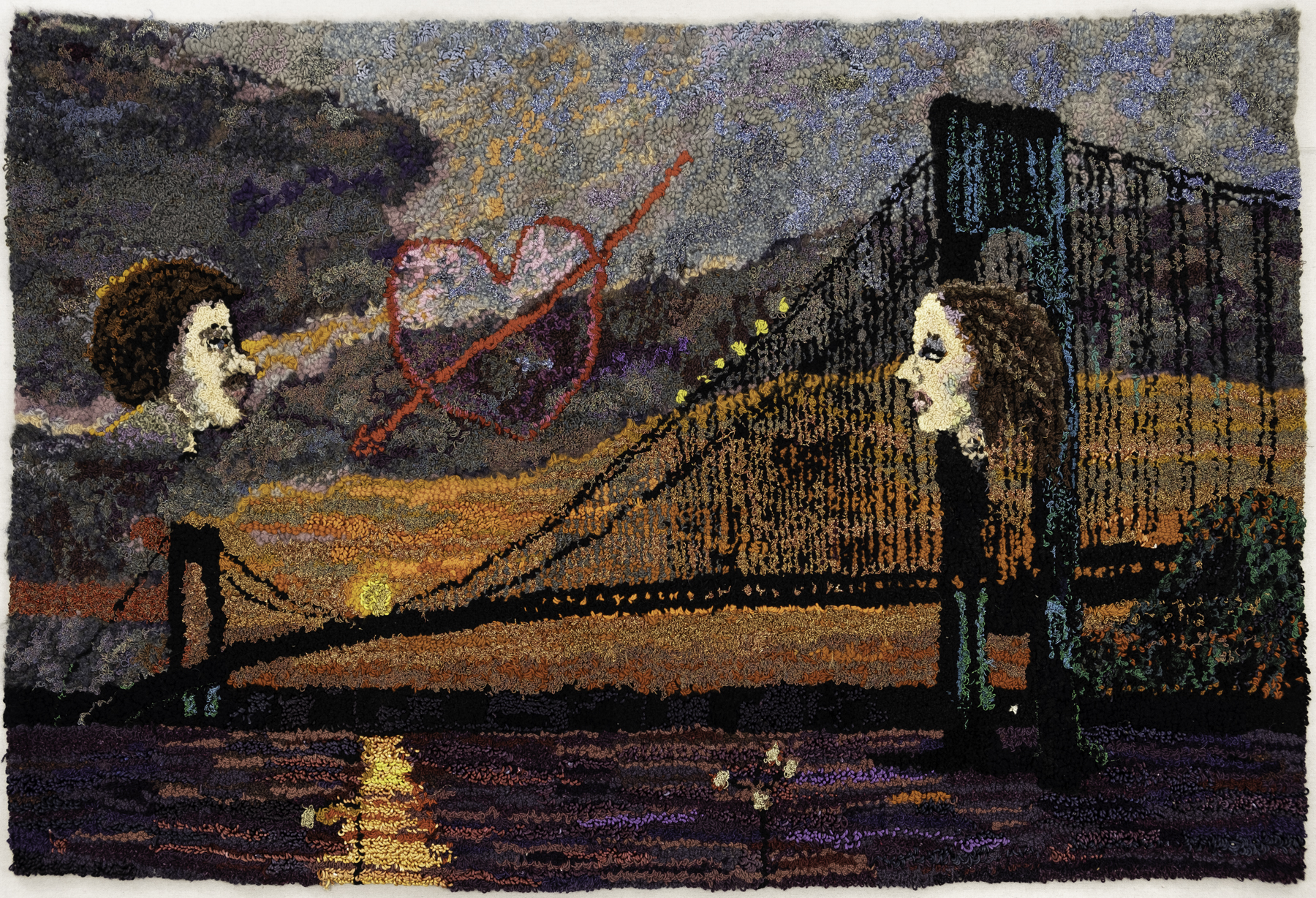 Two A-bridged, 1983-84 by Shari Urquhart. Photo courtesy of the Portrait Society Gallery.