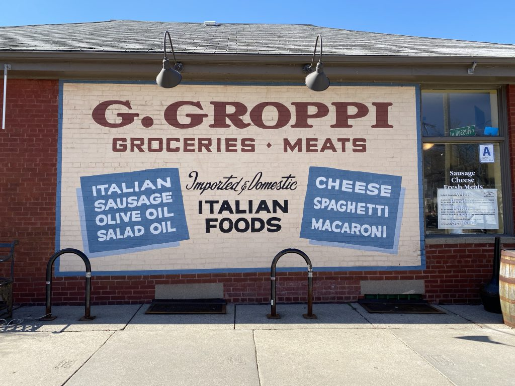 G. Groppi Food Market. Photo taken March 20th, 2021 by Cari Taylor-Carlson.