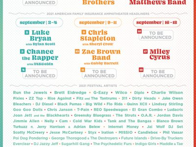 Summerfest 2021 Headliners Announced