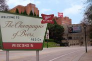 The Champagne of Beers region sign. Image from Molson Coors.