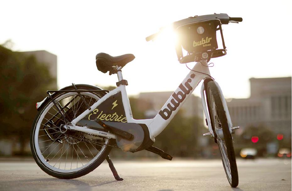Bublr Bikes e-bike. Image from Bublr.