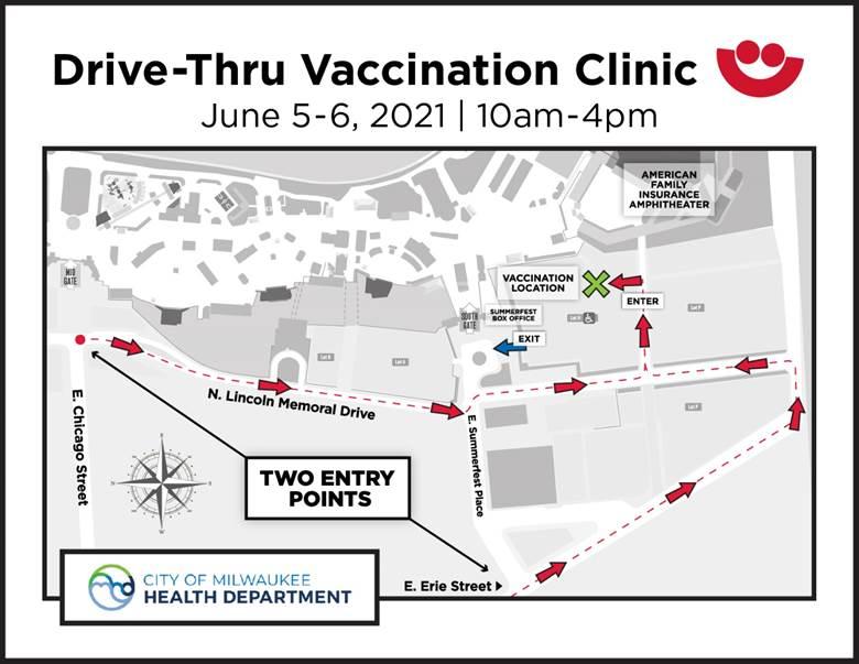 Drive-Thru Vaccination Clinic at Summerfest