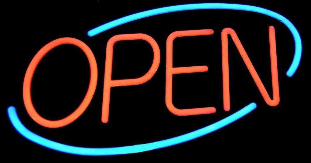 Open Sign. (Pixabay License).