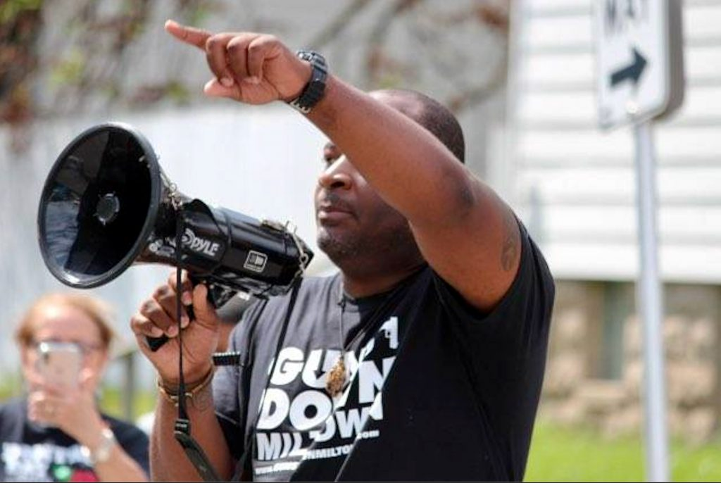 Moore addresses a crowd during a Mothers Against Gun Violence rally in 2019. During his tenure at the Office of Violence Prevention, the office went from having two staff members to nine and its budget grew from $500,000 to $2.1 million. Photo provided by Reggie Moore/NNS.