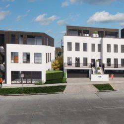 The 1540 office building and four townhomes form The 1500s development. Rendering by Design Manage Advise.