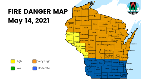 Very High Fire Danger Across Wisconsin