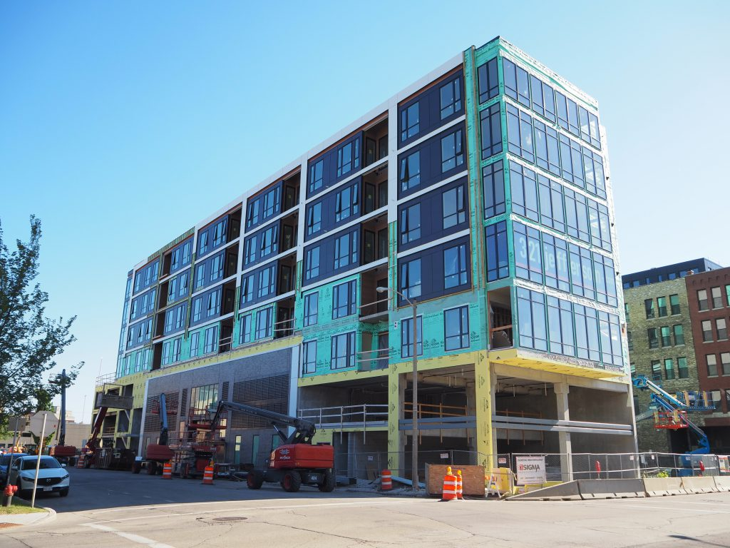 321 Jefferson under construction. Photo by Jeramey Jannene.
