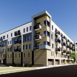 EIGHTEEN87 on Water rendering. Rendering by Continuum Architects.