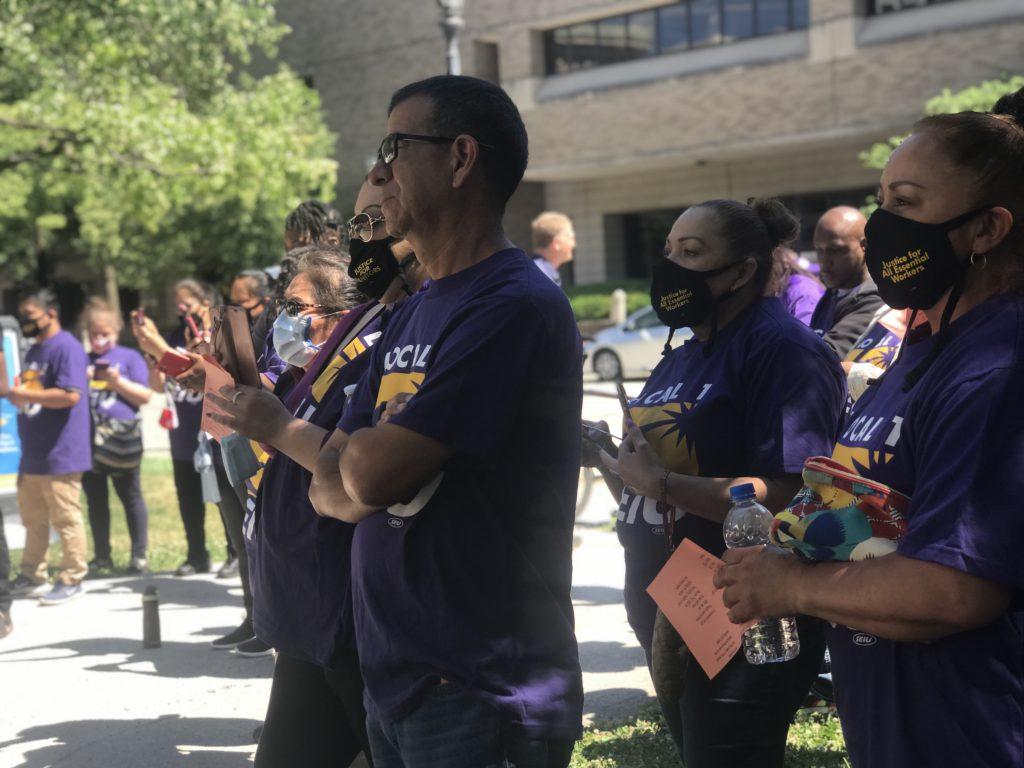 Justice for Janitors Day. Photo courtesy of the Milwaukee Area Service and Hospitality Workers Organization.
