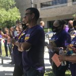 Janitors Rally for New Union Contract